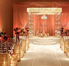 17 best images about indian wedding ceremony decorations mandap decor Wedding Ceremony Ideas, Wedding Hall Decorations, Marriage Decoration, Wedding Mandap, Desi Wedding, Mod Wedding, Wedding Receptions, Trendy Wedding, Uplighting Wedding