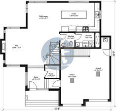 Plans-Les Plans Architectura Renovation Plan, Plane, Architecture Résidentielle, La Rive, Cottage, Bungalow, House Plans, Sweet Home, Floor Plans