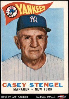 Damn Yankees, New York Yankees Baseball, Yankees Fan, Baseball Wall, Baseball Card Values, Old Baseball Cards, Equipo Milwaukee Brewers, Famous Baseball Players, Casey Stengel