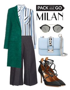 """""""Pack and Go: Milan Fashion Week"""" by alaria ❤ liked on Polyvore featuring moda, MSGM, Valentino, Illesteva, women's clothing, women, female, woman, misses y juniors"""