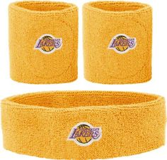 LA Los Angeles Lakers Headband Wristband Combination Set with NBA Basketball Sports Team Logos Enjoy showing support for your favorite team when you wear your favorite teams headband. Team logo design is fully embroidered and not a heat seal or printed design. These woven logo's, in official team colors and designs, will have a great look for a long time to come. Whether you are at the gym, watching the game or spending the day on the run this st...