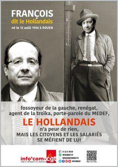 """Affiche : François dit """"le Hollandais"""" - Info'Com-CGT"""