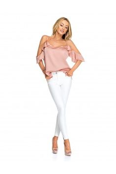 Blouse 17112 Glam Dresses, Street Outfit, Fall Collections, White Jeans, Blouse, Pants, Outfits, Shopping, Fashion
