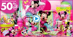 Minnie Mouse Party Supplies - Minnie Mouse Birthday - Party City