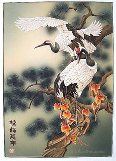 Cranes, Japanese Art