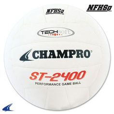 The Champro is made with quality TecSoft PU composite leather. It's the perfect game ball. Volleyball Equipment, Volleyball Gear, Volleyball Accessories, Perfect Game, Juventus Logo, Composition, Games, Sports, Summer Fun