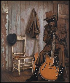 John Lee Hooker by Theo Reijnders ~ I Love You To The Moon & Back ~ ♪ ♫ @SweetDelight7 ♫ ♪