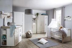 Gitterbett Weiß und Naturfarbe online bestellen Cribs, Furniture, Home Decor, New Furniture, Natural Colors, Lattices, Kid Beds, Engineered Wood, Deko