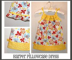 INSTANT DOWNLOAD Harper Pillowcase Style Dress PDF Sewing Pattern By Hadley Grace Designs - Includes Sizes Newborn up to Size 14