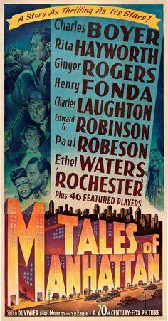Tales of Manhattan  * Charles Boyer  * Rita Hayworth  * Ginger Rogers  * Henry Fonda  * Charles Laughton  * Edward G. Robinson  * Ethel Waters  * Paul Robeson  * W. C. Fields