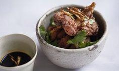 Fried ginger chicken, yuzu dip