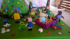#Torta in #pdz #pastadizucchero di #Peppapig con #Peppa e i suoi #amici #cakedesign