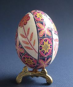 Check out this item in my Etsy shop https://www.etsy.com/ca/listing/89813668/white-and-pink-pysanka-ukrainian-easter