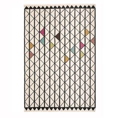 Kalaverkko means Fishnet. Pattern is designed in Finland by MUM's. This is a high quality wool rug . which can be customized to any size.