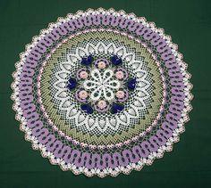 Garden Path Table Topper Crochet Pattern by crochetmemories, $5.25