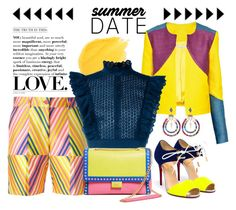 """Summer Date"" by chrisger on Polyvore featuring Christina Economou, Christian Louboutin, P.A.R.O.S.H., Philosophy di Lorenzo Serafini, Boutique Moschino and Anton Heunis"