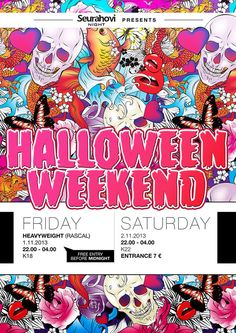 Halloween Weekend, Posters by Ville Palmu, via Behance Before Midnight, Free Entry, Party Poster, Behance, Posters, Halloween, Poster, Postres, Halloween Stuff