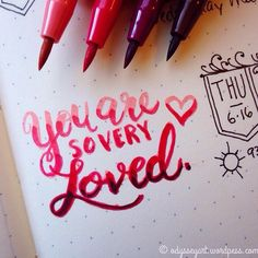 Today's #dndchallenge lettering prompt: You are so very loved  Faber-Castell…