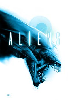 Aliens poster 2 - white background by RobertoDS.deviantart.com