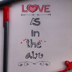 (Hand lettering of the quote  with pen) 'Love is in the air' is available as merchandise for purchase on @postergully @cupick @paintcollar  Valentine's day special! #art #artwork #handlettering #sketch #drawing #typography #heart #love #quote #artist #artistic #handdrawn #sketchbook #forsale #merchandise #india #bangalore #mumbai #delhi #design #valentine #mystaedtler #postergully #cupick #paintcollar #illustration #lovequotes #artoftheday #creativity #letter