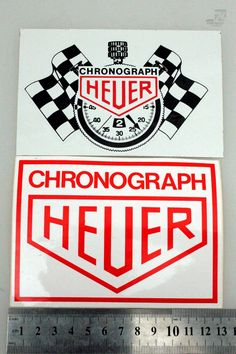Sticker HEUER CHRONOGRAPH | cyan74.com vintage & pop culture