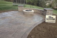 For customers in Cincinnati Ohio Looking for Stamped or Decorative Concrete Patios and Seating Walls. Come visit our showroom, see how we can make your outdoor living space more inviting! We also offer Concrete Driveway and Patio Sealing. Small Backyard Patio, Gravel Patio, Backyard Patio Designs, Pergola Patio, Diy Patio, Backyard Landscaping, Patio Ideas, Pergola Ideas, Landscaping Ideas