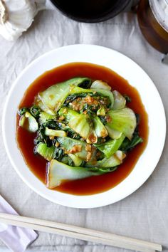 Bok Choy With Garlic and Oyster Sauce - There's no delivery required for this delicious, healthy and easy Bok Choy With Garlic and Oyster Sauce Recipe! Ready in 10 minutes from start to finish. Recipe, side, vegetables, Chinese food, stir fried vegetables | pickledplum.com