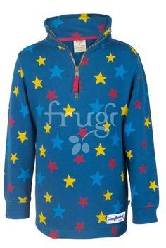 sweater sterne in blau von frugi bei heldenkind