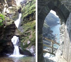 Tintagel Castle steps in Cornwall. Places In Cornwall, Cornwall Beaches, Cornwall Coast, North Cornwall, Devon And Cornwall, Oh The Places You'll Go, Places To Travel, Places To Visit, British Travel