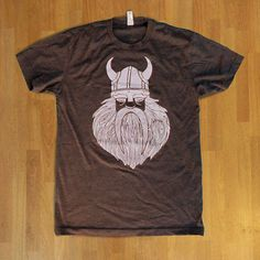Perfect for Father's Day! XLarge  Viking Wooden Beard  Mens crewneck by DowdyStudio on Etsy, $26.00