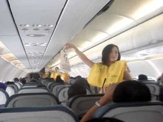 #CebuPacific FAs dancing -  The most watched airline viral video on YouTube is by #CebuPacificAirlines, with 10 million views, according a study by research firm PhoCusWright. The low-cost #Philippine airline asked its flight attendants to dance to Lady Gaga and Katy Perry songs while explaining in-flight safety instructions on one of its flights. The vid's gotten 10 million views since it debuted on YouTube |  | #airlines #adv #flights #travel #airplane #airport #viralvideo