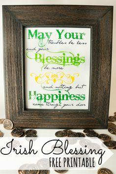Irish Blessing #Printable #StPatricksDay
