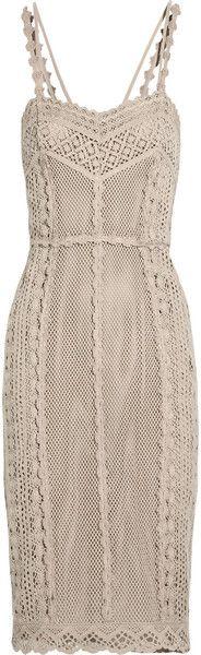 Burberry Prorsum Crocheted Cotton Dress