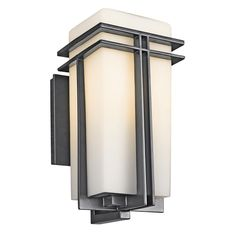 Kichler 49201 Tremillo Single Light Tall Outdoor Wall Sconce with Etched Gla Black (Painted) Outdoor Lighting Wall Sconces Outdoor Wall Sconces Wall Lights, Wall Sconces, Outdoor Wall Lantern, Glass Diffuser, Outdoor Wall Sconce, Outdoor Walls, Kichler Lighting, Wall Sconce Lighting, Light