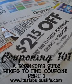 Yeah! A How to series for couponing!  She spells everything out for you to make it super easy to understand! Couponing 101: Where to find coupons part 1