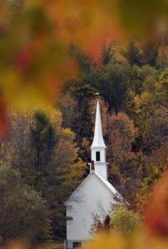 Beautiful Church in Autumn.