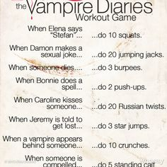 Vampire Diaries workout. Obsessed!