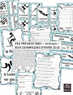 French – Jeux olympiques d'hiver – PyeongChang 2018