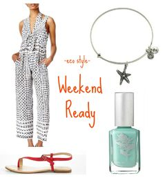 Eco Style: Weekend Ready by Organic Beauty Talk {Featuring Priti NYC Nail Polish in Lungwort}
