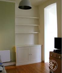 Here are two matching alcove units we built for a client in Streatham, South London. Room Shelves, Small Shelves, Floating Shelves, Alcove Cabinets, Tv Cabinets, Alcove Storage, Storage Ideas, Storage Solutions, Home Living Room