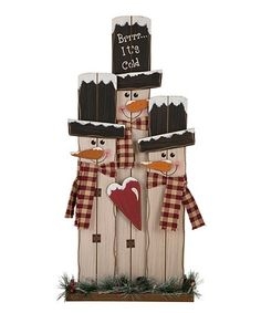 Look what I found on #zulily! LED Country Snowman Family Décor #zulilyfinds