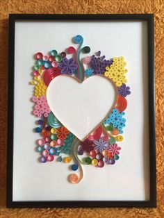 Quilling heart 💙❤️💛