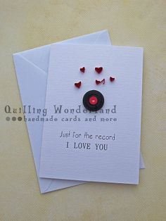 Valentine Card // quilling Love Card // by QuillingWonderland
