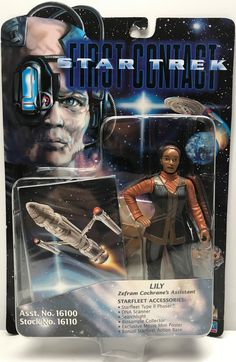 1996 Playmates Star Trek First Contact Figure -Dr. Beverly Crusher This item is NOT in Mint Condition and is in no way being described as Mint or even Near Mint. Our toys have not always lead the perf Star Trek Toys, Star Trek Movies, Star Wars, Scotty Star Trek, Star Trek Action Figures, Beverly Crusher, Warp Drive, Deanna Troi