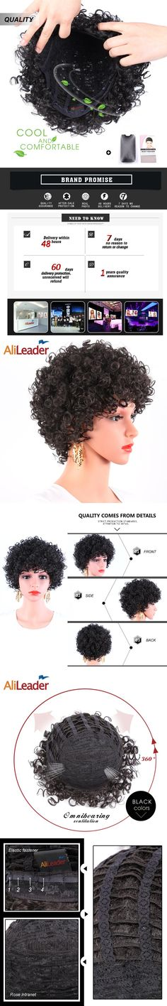 Short Curly Wigs for Black Hair