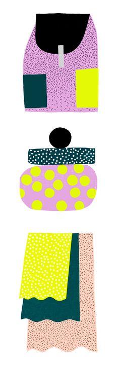 Spring Prints by Hanna Konola #illustration