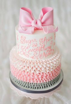Sugar spice and everything nice cake. Would be cute for baby shower or first birthday!