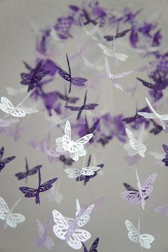 Baby Girl Nursery Decor- Purple Lavender Butterfly Mobile, Baby Shower Gift. $63.00, via Etsy.