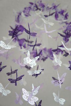 Baby Girl Nursery Decor- Purple Lavender Butterfly Mobile, Baby Shower Gift. $63.00, via Etsy.
