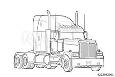 Transformers Drawing, Black And White Sketches, Image American, Trucks, Drawings, Shop, Products, Custom Big Rigs, Cars Motorcycles
